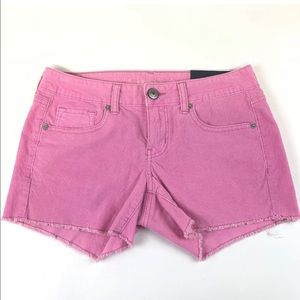 American eagle shorts pink corduroy midi